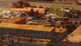 HD2009-11-3-6 Rusting Steel Junkyard stock footage