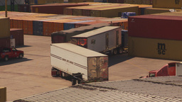 HD2009-11-3-12 containor port and trucks Footage