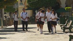 HD2009-11-3-22 school kids in uniform Footage