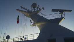 HD2009-11-3-28 ship mast evening Footage