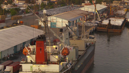 HD2009-11-3-30 ships in port Stock Video Footage