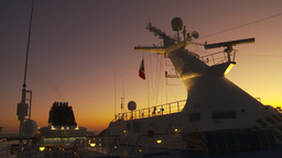 HD2009-11-4-3 ship mast and cruise Stock Video Footage