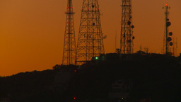 HD2009-11-4-7 Mazatlan TV towers at night Stock Video Footage
