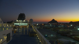 HD2009-11-4-9 cruise ship at night Stock Video Footage