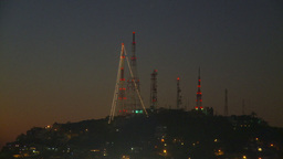 HD2009-11-4-13 Mazatlan TV towers at night Footage
