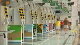HD2009-11-5-9 walking on promenade deck TL Stock Video Footage