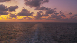 HD2009-11-5-13 aft ships wake at sunset Stock Video Footage