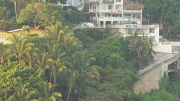 HD2009-11-5-22 Aculpoco condos on hill pan Stock Video Footage