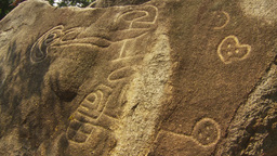 HD2009-11-5-26 petroglyphs x3 Stock Video Footage