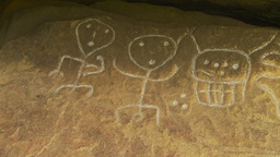 HD2009-11-5-29b petroglyphs x3 Stock Video Footage