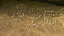 HD2009-11-5-29b petroglyphs x3 Stock Video Footage