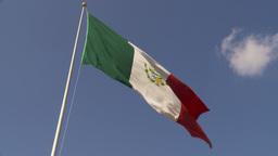 HD2009-11-5-35 mexico flag Footage