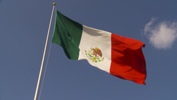 HD2009-11-5-35 mexico flag Stock Video Footage