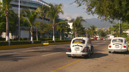 HD2009-11-5-39 Aculpoco traffic VW bugs Stock Video Footage