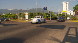 HD2009-11-7-10 Aculpoco traffic follow beetle cab Stock Video Footage