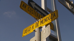HD2009-11-7-12 Aculpoco street sign Stock Video Footage