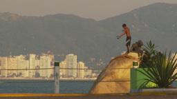 HD2009-11-7-24 Aculpoco boy fishing on rock Footage