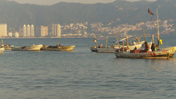 HD2009-11-7-28 Aculpoco bay, skiffs in water pan Footage