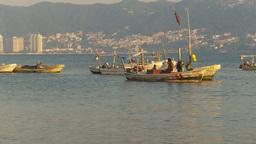 HD2009-11-7-28 Aculpoco bay, skiffs in water pan Stock Video Footage