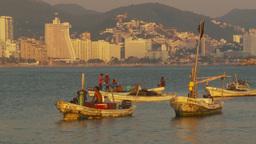 HD2009-11-7-30 Aculpoco bay, skiffs in water condos hotels Footage