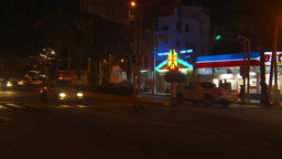 HD2009-11-7-32 Aculpoco traffic night neons Stock Video Footage