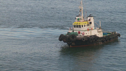 HD2009-11-8-1 tug boat Stock Video Footage