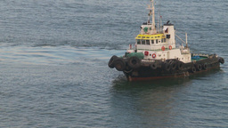 HD2009-11-8-1 tug boat Stock Video Footage