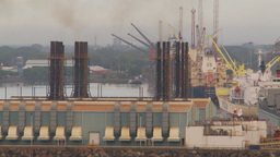 HD2009-11-8-5 industry, harbor ships and docks and power gen Footage