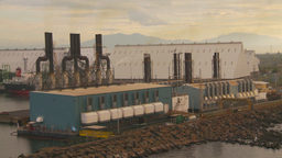 HD2009-11-8-7 industry, ships and docks and power gen Stock Video Footage