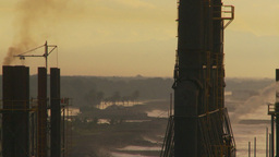 HD2009-11-8-9b industry, power gen stacks Stock Video Footage