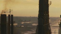 HD2009-11-8-9b industry, power gen stacks Stock Video Footage