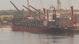 HD2009-11-8-11 industry, containor ship Footage