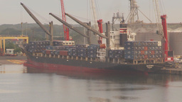 HD2009-11-8-11 industry, containor ship Stock Video Footage