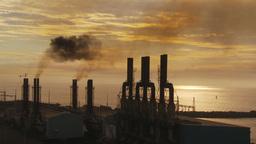 HD2009-11-8-13 industry, power gen stacks smoke Stock Video Footage