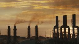 HD2009-11-8-15 industry, power gen stacks smoke Footage