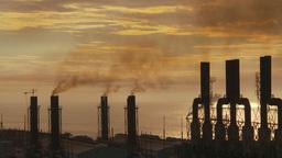 HD2009-11-8-15 industry, power gen stacks smoke Stock Video Footage