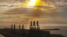 HD2009-11-8-17 industry, power gen stacks smoke Footage