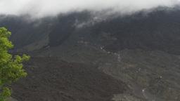 HD2009-11-8-23 guatemala people hiking volcano trail Stock Video Footage