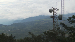 HD2009-11-8-32 guatemala mtnside microave tower Stock Video Footage