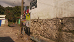 HD2009-11-8-34 guatemala drive through small village Stock Video Footage