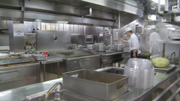 HD2009-11-9-5 stainless steel kitchen #3 Stock Video Footage