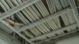 HD2009-11-9-13 ceiling wires and room Stock Video Footage
