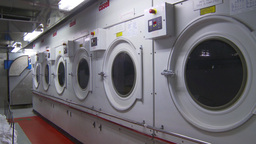 HD2009-11-9-15 industrial laundry machines Stock Video Footage