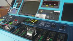 HD2009-11-9-21 capt on the bridge montage Stock Video Footage