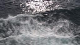 HD2009-11-10-6 ships wake Stock Video Footage
