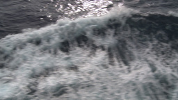 HD2009-11-10-6 ships wake Stock Video Footage