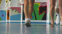 HD2009-11-10-8 people walking legs Stock Video Footage
