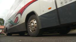 HD2009-11-11-24 departing highway bus Stock Video Footage