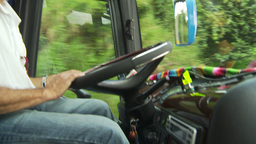 HD2009-11-11-30 busdriver Stock Video Footage