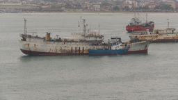 HD2009-11-12-2 fishing boats in harbor Ecuador Footage
